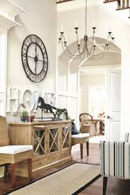 a foyer color spray rustic wood and oil rubbed bronze large clock for entryway ballard designs