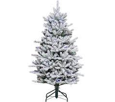santa s best 5 rgb 2 0 flocked balsam fir tree qvc