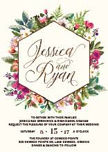 wedding invitations floral floral wedding invitations with free customization elli