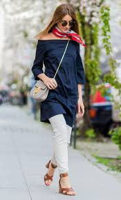how to layer a dress over pants instyle com