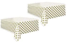 gold polka dot table cover polka dot plastic tablecloth 108 x 54 gold 2 pack fashion