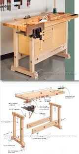 Garage Workshop Plans Compact Workbench Plans Woodworking Plans And Projects