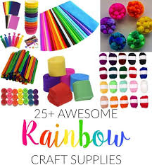 25 awesome rainbow craft supplies made with happy