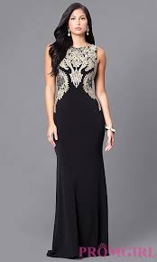 Black And Gold Lace Prom Dress Illusion Lace Black Long Prom Dress Promgirl