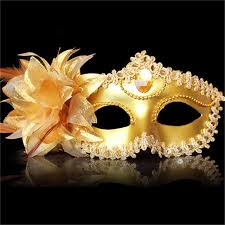 mask masquerade new 5pcs venice half feather mask fancy party