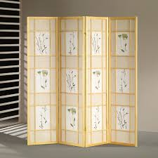 room dividers wooden castine 67 x 60 folding screen 4 panel