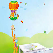 children height growth chart measure wall sticker animal decal children height growth chart measure wall sticker animal