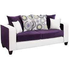 Contemporary Leather Loveseat Sofa Contemporary Sofa Modern Sofa Plum Couch Purple Leather