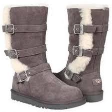 womens ugg maddi boots ugg australia maddi charcoal gray 1001520 youth zipper