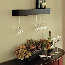 furniture wall mounted wine glass rack together with wall