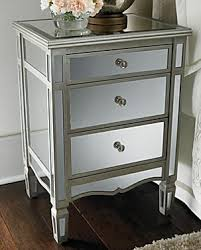 Mirrored Side Table Pottery Barn Park Mirrored Bedside Table Copycatchic