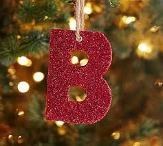 german glitter letter ornament y ornament jute and letter