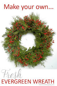 how to make a wreath how to make a fresh evergreen wreath for christmas decorating an