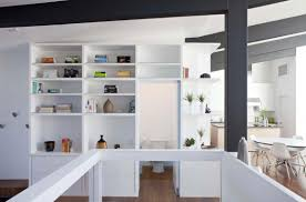 smart and cool shelves idea to pop up the empty wall before powder