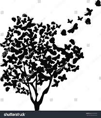 butterfly tree vector stock vector 465092402