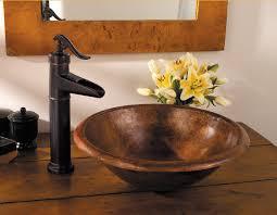 Copper Bathroom Faucet by Pfister Gt40 Yp0 Ashfield Waterfall Bathroom Vessel Faucet