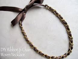 make ribbon necklace images Diy designer inspired ribbon and chain necklace in 4 easy steps JPG