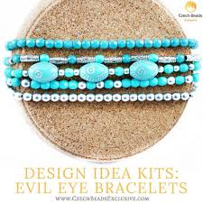 bracelet jewelry kit images Design idea kit evil eye jewelry bracelets from czech glass beads jpg