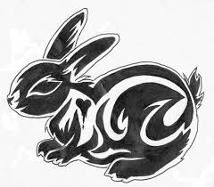 tribal bunny rabbit tattoo design real photo pictures images