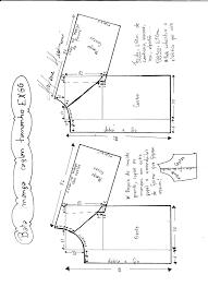 K Henm El Preiswert Patrón Para Dibujar Blusa Manga Ranglan Contorno 120cm Con