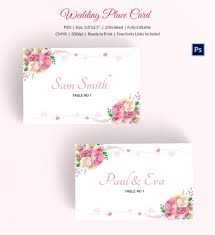 wedding place cards template wedding place card template 20 free printable word pdf psd