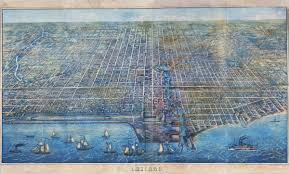 Chicago Map Art by Historic Map Of Chicago Il 1857
