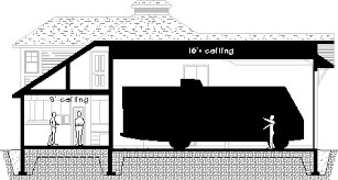 home plans with rv garage the norfolk rv garage apartment plan cross section floor plans