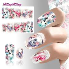 skull nail art stickerasy girls women u2013 blancomall