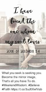 Seeking Song One When Song Of Solomon 34 Eurincom What You Seek Is Seeking You