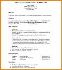 Example Of Caregiver Resume by 10 Examples Of Resumes For Jobs Resume Reference