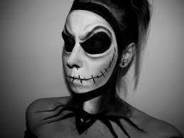 half face halloween makeup ideas jack skellington tutorial halloween series 2014 youtube
