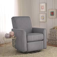 Swivel Rocker Recliner Zoey Grey Nursery Swivel Glider Recliner Chair Free Shipping