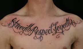 strength respect and loyalty lettering for family tattoomagz