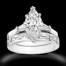 wedding set rings cubic zirconia rings 2 5 ct marquise 14k wedding set r7533w
