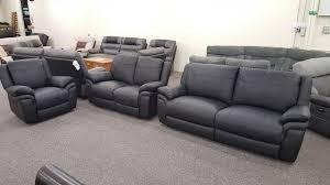Scs Sofas Leather Sofa Mbmegabargains Scs Libra Black Leather 3 2 Seater Sofas