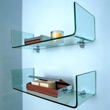 Glass Shelves For Bathrooms Floating Glass Shelves For Bathroom Floating Glass Shelves