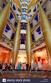 Interior Of Burj Al Arab Interior Of The Luxurious Hotel Burj Al Arab Dubai United Arab
