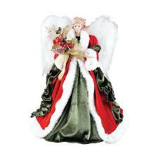 angel christmas tree topper shop santa s workshop 16 in polyester angel christmas tree