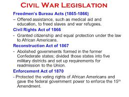 aid bureau civil war legislation freedmen s bureau acts offered