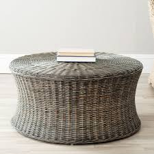 Basket Ottoman by Safavieh Ruxton Natural Unfinished Accent Ottoman Fox6530a The