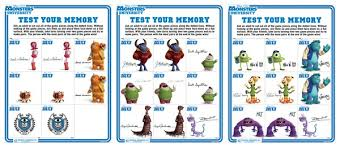 monsters university printables free activity sheets monstersuevent