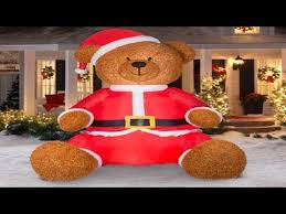 gemmy airblown inflatables 9 teddy with santa