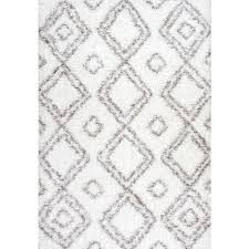 Nuloom Rug Reviews Nuloom Iola Easy Shag White 6 Ft 7 In X 9 Ft Area Rug Ozsg18a