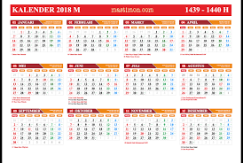 Gambar Kalender 2018 Lengkap Kalender 2018 Pdf Lengkap Libur Nasional Dan Tanggal Jawa