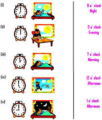 worksheet on time helps the kids for learning the concepts of time