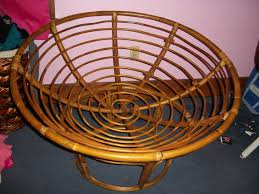 furniture wicker bowl chair double saucer chair double