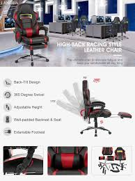 Comfortable Chairs To Use At Computer Amazon Com Langria Faux Leather Racing Gaming Chair Computer