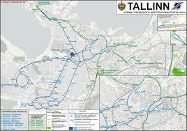 Transport Map Tallinn Transport Maps