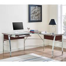 l shaped glass top desk home office furniture collections