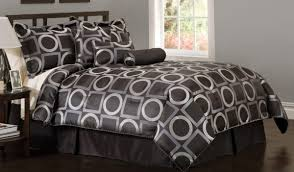 geometric pattern bedding reversible brown geometric pattern polyfill comforter with machine